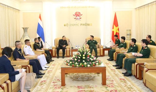 Đại tướng Ngô Xuân Lịch tiếp đại sứ Thái Lan